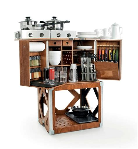 mobile kitchen design smart compact mobile kitchen design for cing or outdoor