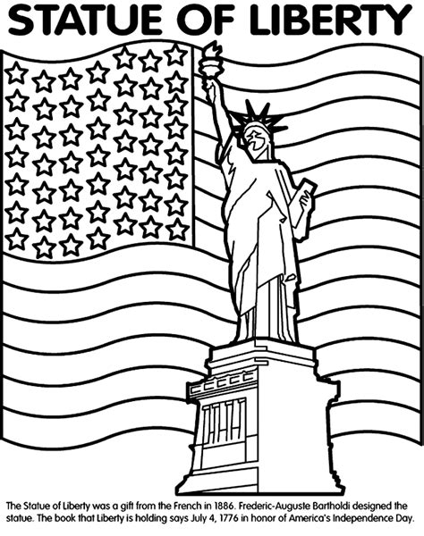 coloring book printers usa statue of liberty coloring page geography