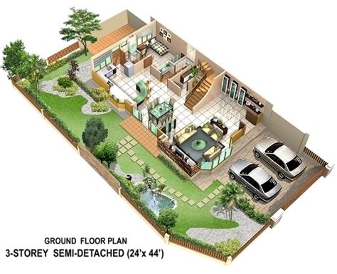 semi detached house plans semi detached house layout plan home deco plans
