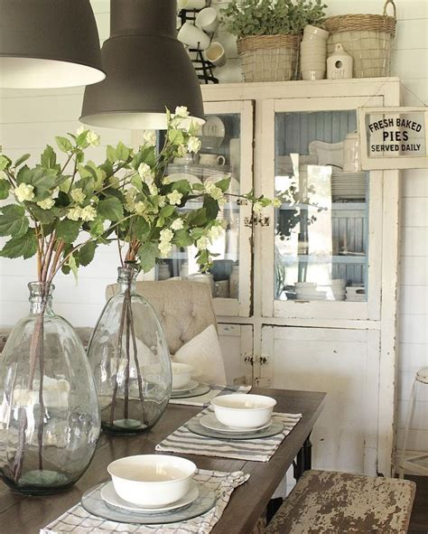 Farmhouse Dining Room Table Centerpieces 17 Best Ideas About Dinning Table Centerpiece On