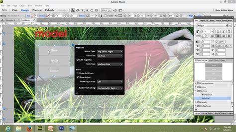 membuat website dengan adobe muse cara mudah membuat website menggunakan adobe muse cc part