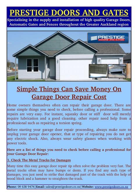 Simple Things Can Save Money On Garage Door Repair Cost Garage Door Service Cost