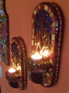 mosaic candle sconces 12 mosaic mirror wall sconces votive candle