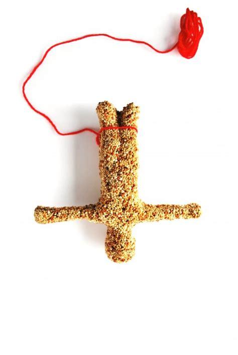 bungee bird feeder bungee jumper made from bird seed