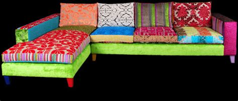 Patchwork Corner - patchwork corner sofa from ginny avison designs ltd