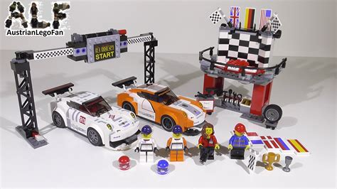Trand Lego 75912 Porsche 911 Gt Finish Line Speed Chions Bds051 lego speed chions 75912 porsche 911 gt finish line ziellinie lego speed build review
