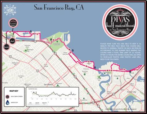 san francisco race map divas half marathon san francisco bay
