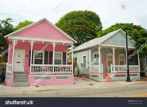 typical house style in typical houses conch style architecture key stock photo 84311458