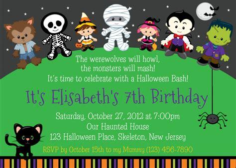 kids halloween birthday invitations halloween party invitation ideas party invitations templates