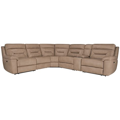 microfiber reclining sectional city furniture phoenix dk beige microfiber small two arm