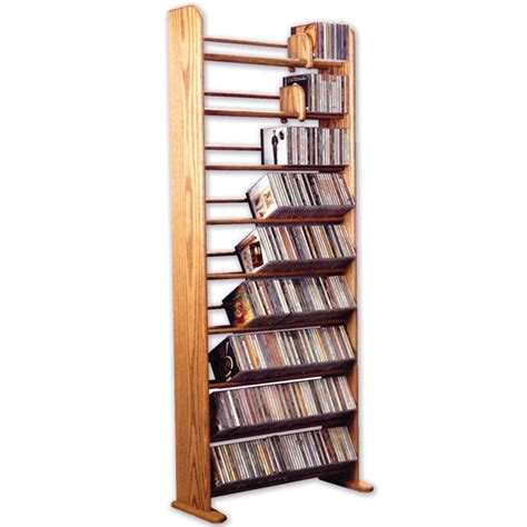 oak cd or dvd storage rack shelving at wireless catalog