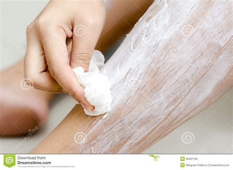 no no hair removal for african americans scrubs hair removal cream stock photo image 39497100