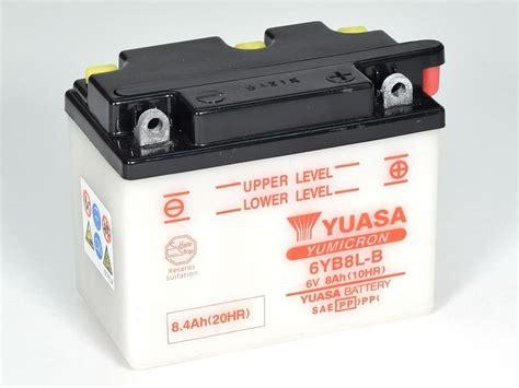 Motorrad Batterie Erhaltungsladeger T Test by 6yb8l B Conventional 6 Volt Motorrad Powersport Alle