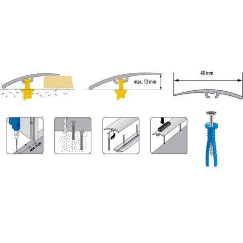 barre de seuil 369 cezar barre de seuil en aluminium 40 x 1800 mm noyer