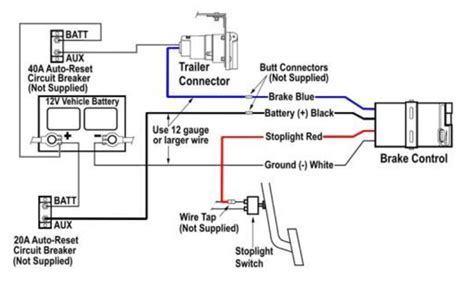 dodge trailer brake controller wiring diagram circuit
