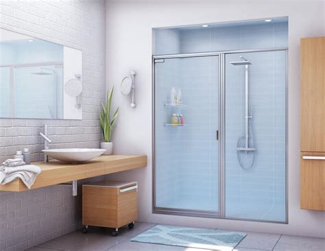 Alumax Frameless Shower Doors Stik Stall Shower Door Models Shower Doors Bathroom Enclosures Alumax Bath Enclosures