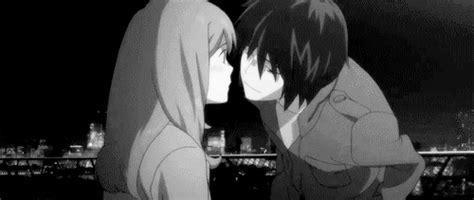 gif de amor anime kiss me love gif find share on giphy