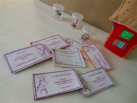 Handmade Business Cards - cristali designs handmade business cards