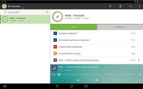 android torrent come impostare utorrent android