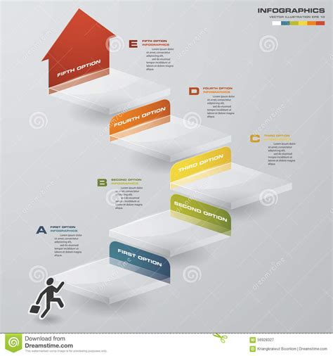 graphic design layout diagrams abstract business chart 5 steps diagram template graphic