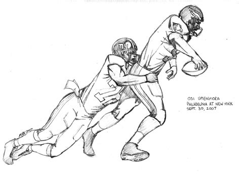 football tackle coloring page nfl football players eagles coloring pages sports
