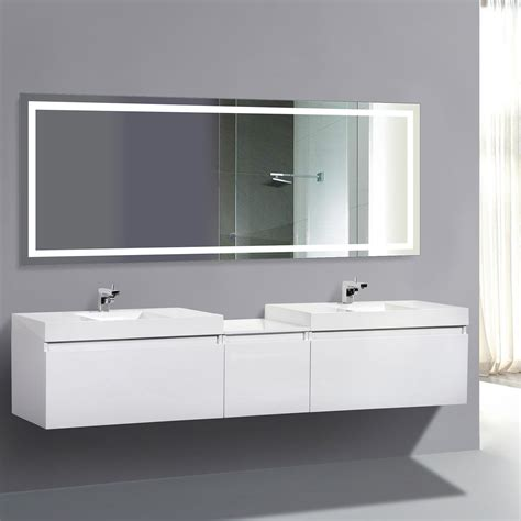 defog bathroom mirror led bathroom mirror defogger dimmer horizontal 60