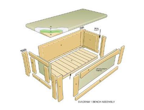 ottoman plans do it yourself садовая скамейка с нишей сделай своими руками мастер