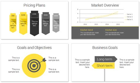 plan on a page template powerpoint modern business plan powerpoint template