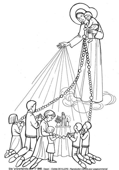 coloriage de  du rosaire  maintenant une histoire