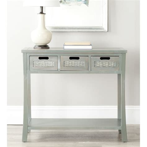 blue grey sofa table autumn blue grey 3 drawer console table