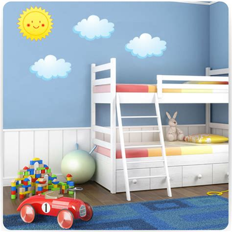 Childrens Bedroom Wall Stickers by Childrens Bedroom Sun And Clouds Wall Stickers