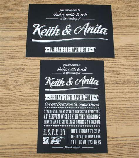 rock wedding invitations theme wedding ideas rock n roll themed wedding