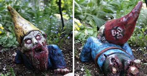 undead garden decor zombie lawn gnome zombie gnomes are a perfect way to keep everyone from your