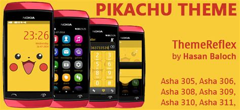 themes for nokia asha 309 mobile pikachu theme for nokia asha 305 asha 306 asha 308 asha