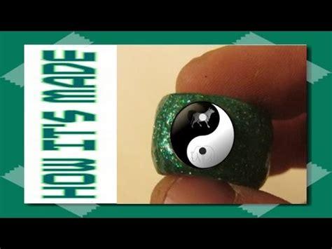 Fosil Motif Yin Yang agate ring jewelry yin yang antiques collection batu a