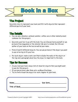 book in a box book report rubrics picmia