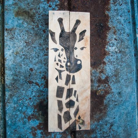 giraffe print giraffe home decor safari decor by simplypallets