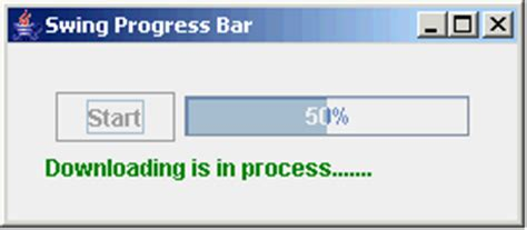 Progress Bar In Java Swing
