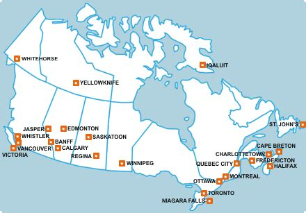 map of canada showing major cities mr cappello s classroom cgc1d canadian geography