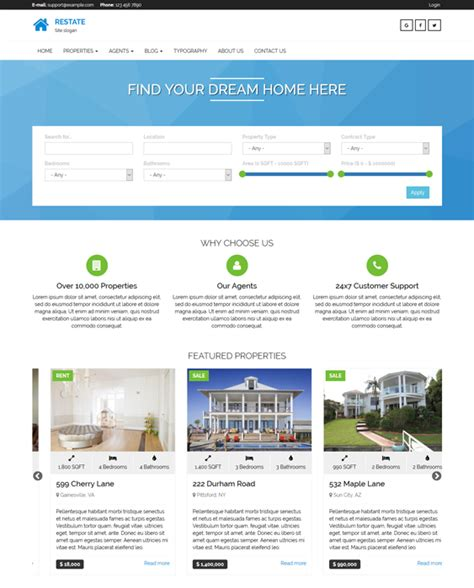 drupal themes sles 5 of the best real estate drupal themes down