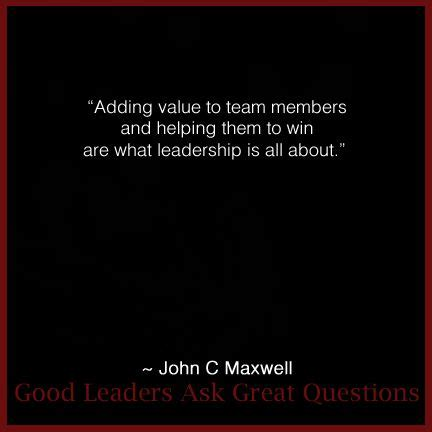 Leaders Ask Great Questions Your By C Maxwell Ebook leadership quote from maxwell from his book quot leaders ask great questions