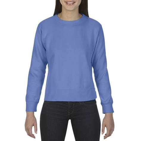 gildan comfort colors cc1596 comfort colors ladies crewneck sweatshirt flo