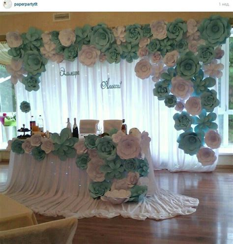 How To Make Paper Flower Backdrop - paper flowers backdrop wedding paper backdrop