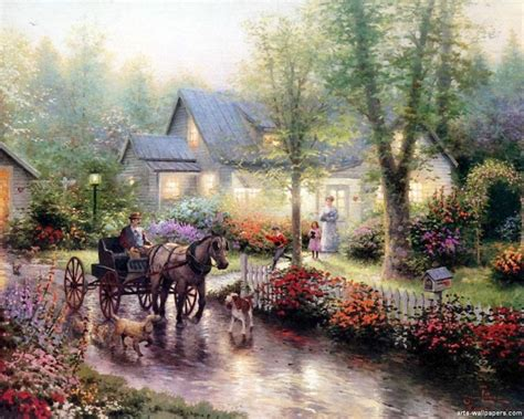 top kinkade prints reproductions wallpapers