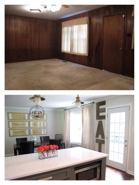 home makeover before and after gray and lime green before and after dining room makeover wood letters grey