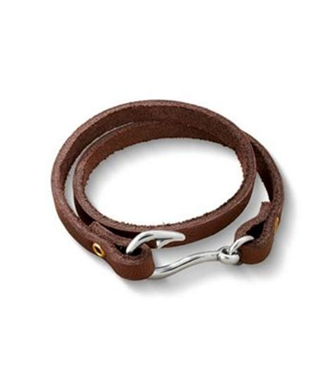 Fish Hook Leather Bracelet   James Avery