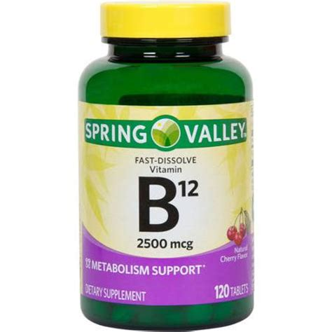 b12 supplement valley sublingual b12 vitamin supplement