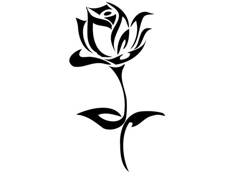 rose tattoo clipart simple tribal tattoos design ideas