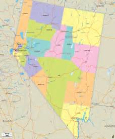 political map of nevada ezilon maps