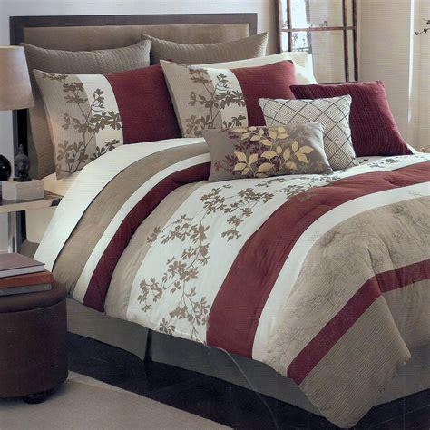 sagamore khaki oversize king 8 piece comforter bed in a